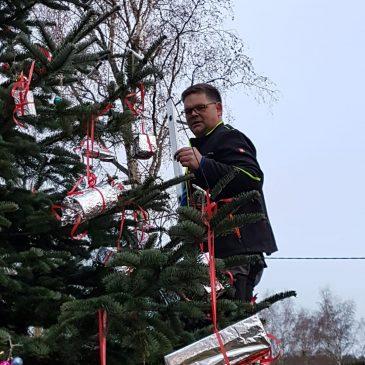 Weihnachtsbaum am Spielplatz